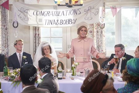 EPISODE 1 Pictured : Lorne MacFadyen as Bobby, Michelle Keegan as Tina and Patsy Kensit as Betty.