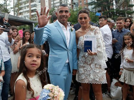 Editorial photo of Tevez Gets Married, Buenos Aires, Argentina - 22 Dec 2016