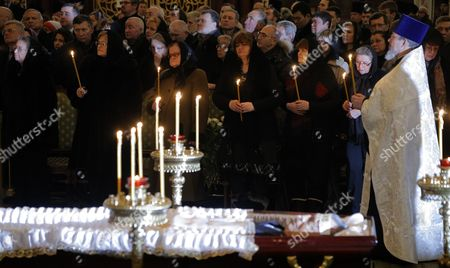 Mourners attend a memorial service for killed Russian ambassador to Turkey, Andrey Karlov, at the Christ the Savior Cathedral, in Moscow, Russia, 22 December 2016. Russia's ambassador to Turkey, Karlov was assasinated on 19 December during a culutural event at an art gallery in the Turkish capital by Turkish policeman Mevlut Mert Altintas, 22, who had been serving in Ankara's riot police for two years.