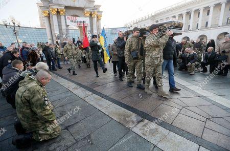 Editorial photo of Funeral ceremony of Ukrainian fighter in Kiev, Ukraine - 22 Dec 2016