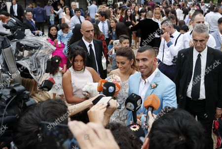 Editorial image of Tevez gets married in Argentina and will continue the wedding in Uruguay - 22 Dec 2016