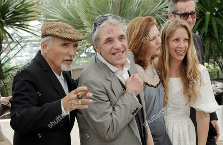 Dennis Hopper, director Abel Ferrara with fiancee Shanyn Leigh and producer Jen Gatien