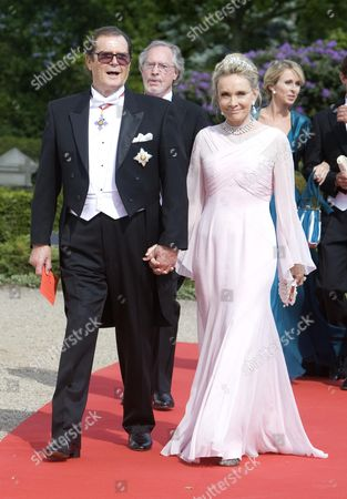 Roger Moore and wife Christina Kiki Tholstrup