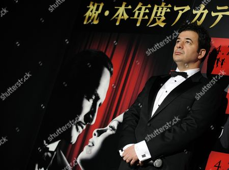 Stock Picture of Oscar-winner French Composer Ludovic Bource Attends a Press Event Promoting Michel Hazanavicius' Movie 'The Artist' in Tokyo Japan 08 March 2012 'The Artist' Will Be Screened Across Japan From 07 April Japan Tokyo