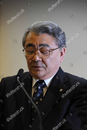 Toshio Nishizawa President of Tokyo Electric Power Co (tepco) Speaks During a Press Conference at the Tokyo Electric Power Co (tepco) Headquarters in Tokyo Japan 16 December 2011 a Cold Shutdown Has Been Achieved at a Japanese Nuclear Plant Damaged in an Earthquake and Tsunami After Nine Months of Efforts to Bring the Facility Under Control the Government Said a Cold Shutdown Means No Nuclear Reactions Are Occurring at the Fukushima Daiichi Nuclear Station 250 Kilometres North-east of Tokyo and Little Radiation is Leaking Into the Environment It Marks an End to the Emergency Phase of Japan's Worst Nuclear Disaster and the Start of the Clean-up and Scrapping of the Reactors Japan Tokyo