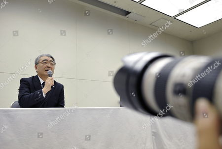 Toshio Nishizawa President of Tokyo Electric Power Co (tepco) Attends a Press Conference in Tokyo Japan 13 February 2012 Tepco Said It Expects Losses For the Year to March 31 to Reach 8 9 Billion Usd As Compensation and Clean-up Costs Increased After the Fukushima Nuclear Disaster Japan Tokyo