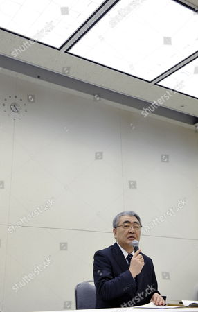 Toshio Nishizawa President of Tokyo Electric Power Co (tepco) Speaks During a Press Conference in Tokyo Japan 13 February 2012 Tepco Said It Expects Losses For the Year to March 31 to Reach 8 9 Billion Usd As Compensation and Clean-up Costs Increased After the Fukushima Nuclear Disaster Japan Tokyo