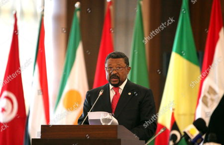 President of African Union Commission Jean Ping Speaks During the Opening of Regional Ministerial Conference on Border Security Entitled 'Opportunities For Enhanced Operational Cooperation' in Tripoli Libya 11 March 2012 According to Local Media Reports Defence and Interior Ministries Officials From Algeria Niger Mali and Other Countries Sharing Border with Libya Started on 11 March a Two-day Meeting on Security Issues and Cooperation Libyan Arab Jamahiriya Tripoli