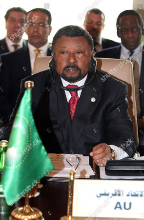 President of African Union Commission Jean Ping Looks on During the Opening of Regional Ministerial Conference on Border Security Entitled 'Opportunities For Enhanced Operational Cooperation' in Tripoli Libya 11 March 2012 According to Local Media Reports Defence and Interior Ministries Officials From Algeria Niger Mali and Other Countries Sharing Border with Libya Started on 11 March a Two-day Meeting on Security Issues and Cooperation Libyan Arab Jamahiriya Tripoli