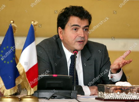 French State Minister For Foreign Trade Pierre Lellouche Gestures During a Conference with Libyan Commerce Minister Tahir Cherks (not Pictured) in Tripoli Libya 20 December 2011 Lellouche is on a Day Visit in Tripoli and Came with a Delegation of French Businessman Lellouche Announced New Negotiations Between Airbus and Libyan Authorities Regarding the Delivery of 11 Planes Ordered in 2007 by the Two Public Companies Afriqiya Et Libyan Airlines Libyan Arab Jamahiriya Tripoli