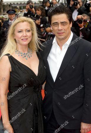 Laura Bickford and Benicio Del Toro