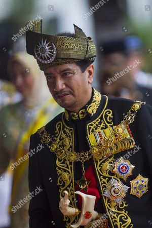 The Outgoing 13th Malaysian King Sultan Mizan Zainal Abidin is Seen During the Official Farewell Ceremony at Parliament Square Kuala Lumpur Malaysia 12 December 2011 Sultan Mizan Zainal Abidin Ends His Term to Make Way For Next Monarch After Completed a Five-year Rotation Period Malaysia Kuala Lumpur