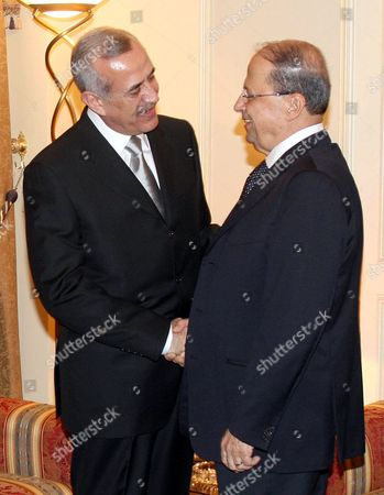 General Michel Aoun congratulates President Michel Suleiman.