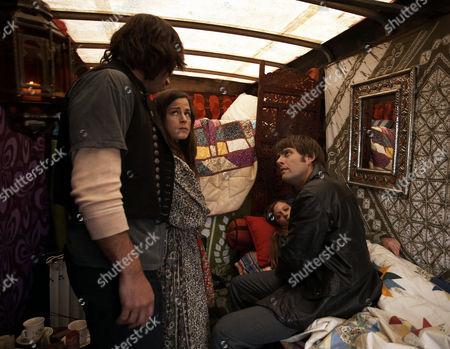'The Royal'   TV   Series 6 Pictured: Gideon Bradley (Paul Opacia), Jessica Bradley (Myfanwy Waring),Sky Bradley (Sophie Carrigill)  and Dr Mike Banner (Sam Callis)