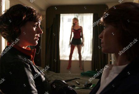 Stock Image of 'Strictly Confidential'   TV Pictured:  Linda (Suranne Jones) and DI Angie Morton (Eva Pope)