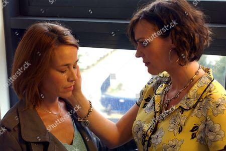 Stock Photo of 'Strictly Confidential'   TV Eva Pope and Suranna Jones