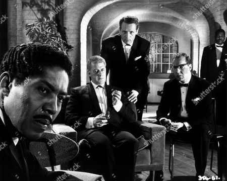 'All Night Long'   Film  Patrick McGoohan (standing) with Harry Towb (in glasses) and Bernard Braden (with glass in hand)