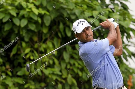 Jeev Milkha Singh of India Drives From the Third Hole During the Second Round of the Barclays Singapore Open at the Sentosa Golf Club in Singapore 11 November 2011 Singapore Singapore