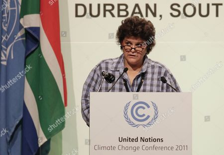 Izabella Teixeira Minister of Environment of Brazil Speaks During the High Level Segment of the Cop 17 / Cmp 7 United Nations (un) Climate Change Conference 2011 in Durban South Africa 08 December 2011 the 17th Session of the Congress of the Parties (cop) Comprising 194 Countries Meeting to Discuss the United Nations Framework Convention on Climate Change (unfccc) is in Its High Level Segment Serving As the Meeting of the Parties to the Kyoto Protocol South Africa Durban