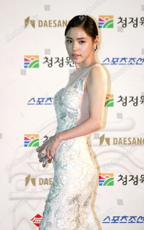 South Korean Actress Min Hyo-rin Arrives For the 32nd Blue Dragon Film Awards at the Kyunghee University in Seoul South Korea 25 November 2011 the Blue Dragon ('cheongryong') Awards Are One of the Country's Two Major Film Awards Korea, Republic of Seoul