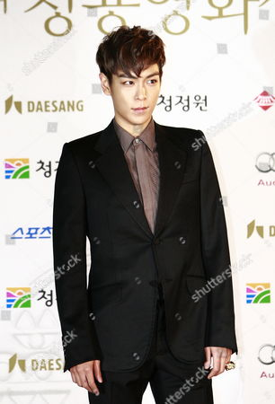Stock Photo of South Korean Actor and Recording Artist Choi Seung-hyun Aka T O P Arrives For the 32nd Blue Dragon Film Awards at the Kyunghee University in Seoul South Korea 25 November 2011 the Blue Dragon ('cheongryong') Awards Are One of the Country's Two Major Film Awards Korea, Republic of Seoul