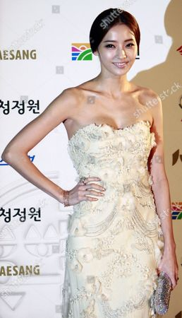 South Korean Actress Han Chae-young Arrives For the 32nd Blue Dragon Film Awards at the Kyunghee University in Seoul South Korea 25 November 2011 the Blue Dragon ('cheongryong') Awards Are One of the Country's Two Major Film Awards Korea, Republic of Seoul