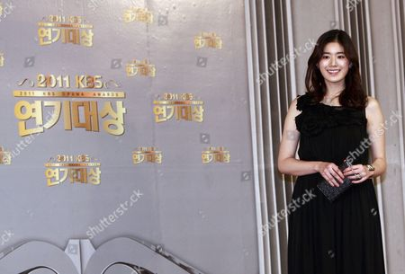South Korean Actress Jung Eun-chae Arrives For the 2011 Annual Kbs Drama Awards at the Youido Kbs Hall in Seoul South Korea 31 December 2011 the Korean Broadcasting System (kbs) Drama Awards Ceremony Gives a Prize to Actors and Actresses who Have Starred in Dramas Aired on Kbs Networks These Awards Started in 1987 and Have Been Going on Ever Since Korea, Republic of Seoul