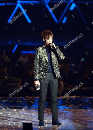 South Korean Recording Artist Choi Seung-hyun Aka T O P of the Dance Group Bigbang Performs Onstage During the 3rd Melon Music Awards at the Olympic Park Gymnastics Stadium Outdoor Stage in Seoul South Korea 24 November 2011 Korea, Republic of Seoul