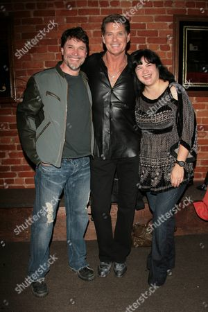 Peter Reckell, David Hasselhoff and Kelly Moneymaker