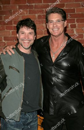 Peter Reckell and David Hasselhoff