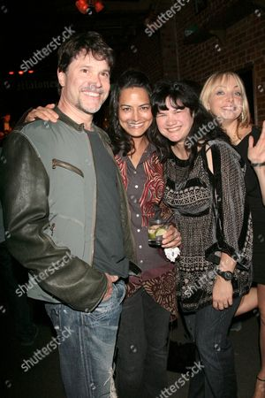 Peter Reckell with Wade Hubbard's widow and wife Kelly Moneymaker