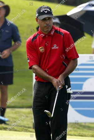 Jeev Milkha Singh of India During His Putt During the First Day of Thailand Golf Championship at Amata Spring Country Club Chonburi Province Thailand 15 December 2011 the Asian Tour Season-ending Thailand Golf Championship is Held From 15 to 18 December 2011 Thailand Chonburi