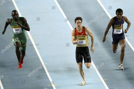 Christian Blum of Germany Competes in Heat 2 in the Men's 60m at the Athletics World Indoor Championships at Atakoy Athletics Arena in Istanbul Turkey 09 March 2012 Turkey Istanbul