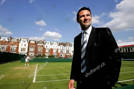 Roger Draper, Chief Executive of the Lawn Tennis Association at Queens Club.