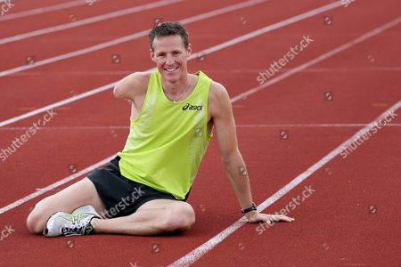 Danny Crates at Lee Valley Athletics track
