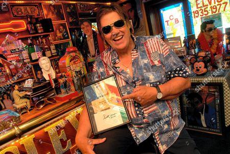 John Turner in his Elvis Themed House