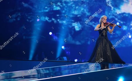 Greta Salome & Jons of Iceland Perform During the First Semi-final of the Eurovision Song Contest 2012 in Baku Azerbaijan 22 May 2012 the Final of the 57th Eurovision Song Contest Takes Place on 26 May Azerbaijan Baku