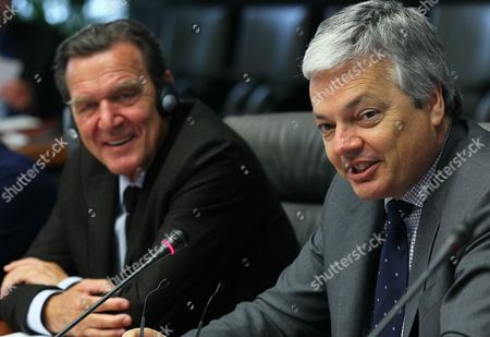 Editorial photo of Belgium Germany Conference Dialogue in Hardtimes - Apr 2012