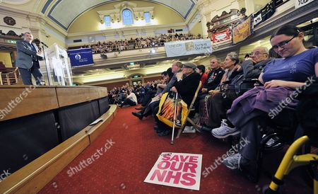 Tuc General Secretary Brendan Barber (l) Addresses National Health Service Workers During a Nhs Rally at Westminster Central Hall in London Britain 07 March 2012 Opponents of the Government's Controversial Health Reforms Warned Ministers in London That the Changes Represent the 'Biggest Threat' the Nhs Has Ever Seen Nurses Midwives Doctors Cleaners Porters and Other Nhs Workers Attended the Rally in a Last-ditch Attempt to Scupper the Health and Social Care Bill United Kingdom London