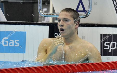Roberto Pavoni Pictured After Winning His Men's 400m Individual Medley Heat at the British Gas Swimming Championships 2012 Olympic Test Event at the Aquatic Centre in the 2012 Olympic Park in London Britain 03 March 2012 United Kingdom London