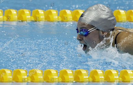 Britain's Ellen Gandy Competes in the Women's 200 Metre Butterfly Final at the British Gas Swimming Championships 2012 Olympic Test Event at the Aquatic Centre in the 2012 Olympic Park in London Britain 07 March 2012 United Kingdom London