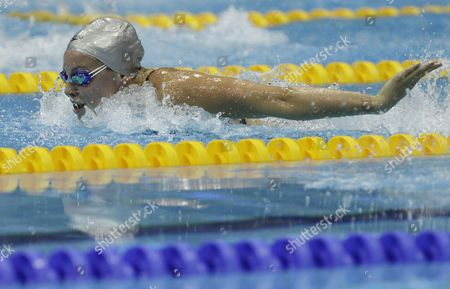 British Swimmer Ellen Gandy Competes in the Women's 100 Metre Butterfly at the British Gas Swimming Championships 2012 Olympic Test Event at the Aquatic Centre in the 2012 Olympic Park in London Britain 03 March 2012 United Kingdom London