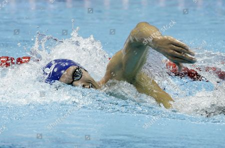 Britain's Daniel Fogg Competes in the Men's 1 500 Metre Final at the British Gas Swimming Championships 2012 Olympic Test Event at the Aquatic Centre in the 2012 Olympic Park in London Britain 10 March 2012 United Kingdom London