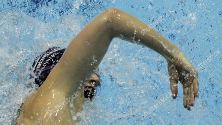 Britain's Caitlin Mcclatchey Competes in the Women's 200 Metre Freestyle Semi Final at the British Gas Swimming Championships 2012 Olympic Test Event at the Aquatic Centre in the 2012 Olympic Park in London Britain 05 March 2012 United Kingdom London