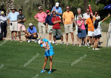 Us Golfer Alexis Thompson Plays a Shot During Final Round at Omega Dubai Ladies Masters in Emirate Gulf of Dubai United Arab Emirates on 17 December 2011 United Arab Emirates Dubai