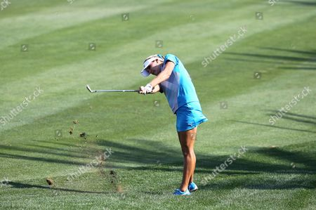 Us Golfer Alexis Thompson Makes a Shot During the Final Round at Omega Dubai Ladies Masters in Emirate Gulf of Dubai United Arab Emirates on 17 December 2011 United Arab Emirates Dubai