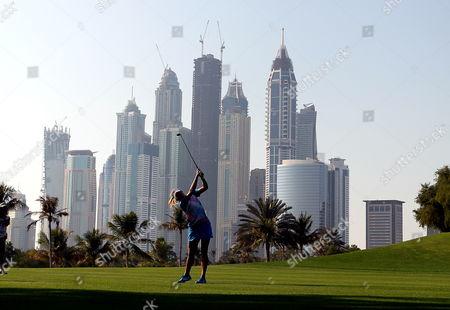 Us Golfer Alexis Thompson Plays a Shot During Final Round at Omega Dubai Ladies Masters in Dubai United Arab Emirates 17 December 2011 United Arab Emirates Dubai
