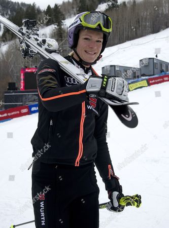 Maria Hofl-riesch of Germany Walks Off the Finish Area After Her Practice Run at the Women's World Cup Alpine Skiing in Aspen Colorado Usa 25 November 2011 United States Aspen
