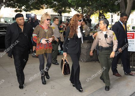 Latoya Jackson (2-r) the Sister of Michael Jackson and Kathy Hilton (2-l) Arrive For the Sentencing of Dr Conrad Murray who was Convicted of Involuntary Manslaughter For the Death of Pop Signing Legend Michael Jackson at the Los Angeles Superior Courthouse in Los Angeles California Usa 29 November 2011 Murray Faces Up to Four Years of Jail Time in the Death of Jackson United States Los Angeles