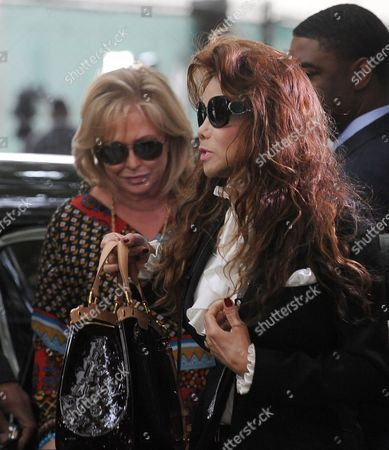 Latoya Jackson (r) the Sister of Michael Jackson and Kathy Hilton (l) Arrive For the Sentencing of Dr Conrad Murray who was Convicted of Involuntary Manslaughter For the Death of Pop Signing Legend Michael Jackson at the Los Angeles Superior Courthouse in Los Angeles California Usa 29 November 2011 Murray Faces Up to Four Years of Jail Time in the Death of Jackson United States Los Angeles